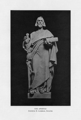 Augustus Lukeman (American, 1871-1935). <em>The Hebrew Apostle</em>, 1909. Indiana limestone, Approx. height: 144 in. (365.8 cm). Brooklyn Museum, Gift of the City of New York, Parks and Recreation, 09.937.14. Creative Commons-BY (Photo: Brooklyn Museum, PER_Bulletin_of_the_Brooklyn_Institute_of_Arts_and_Sciences_v1_p503_09.937.14.jpg)
