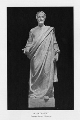 Herbert Adams (American, 1858-1945). <em>Greek Letters</em>, 1909. Indiana limestone, Approx. height: 144 in. (365.8 cm). Brooklyn Museum, Gift of the City of New York, Parks and Recreation, 09.937.25. Creative Commons-BY (Photo: Brooklyn Museum, PER_Bulletin_of_the_Brooklyn_Institute_of_Arts_and_Sciences_v2_p196_09.937.25.jpg)