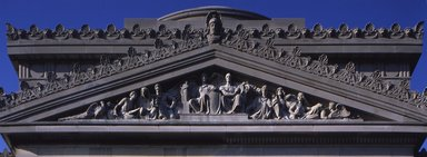 Daniel Chester French (American, 1850-1931). <em>Pediment for the Brooklyn Museum</em>, 1914. Indiana limestone Brooklyn Museum, 10.232. Creative Commons-BY (Photo: Brooklyn Museum, S06_BEEi118_cropped_10.232.jpg)