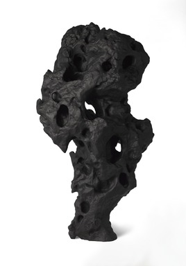Zhang Jian-Jun (Chinese, born 1955). <em>Ink Rock</em>, 2019. Chinese ink and mixed media, 40 3/16 × 22 1/16 × 15 3/8 in. (102.0 × 56.0 × 39.0 cm). Brooklyn Museum, Gift of Reverie Collection in memory of Professor Michael Sullivan, 2019.26. © artist or artist's estate (Photo: , TL2014.85_view01_PS9.jpg)