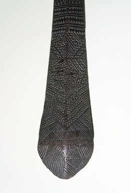 Tongan. <em>Club (Moungalaulau)</em>, late 18th or 19th century. Wood, 3 1/4 × 1 in. (8.3 × 2.5 cm). Brooklyn Museum, Brooklyn Museum Collection, X1038. Creative Commons-BY (Photo: Brooklyn Museum, X1038_transpc003.jpg)