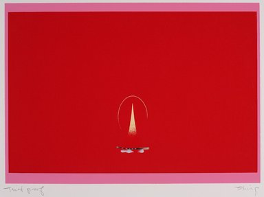 Ching Ho Cheng (American, 1946-1989). <em>Flame</em>, 1978. Silkscreen, 20 x 24 in. (50.8 x 61 cm). Brooklyn Museum, Brooklyn Museum Collection, X1042.137. © artist or artist's estate (Photo: Brooklyn Museum, X1042.137_PS9.jpg)