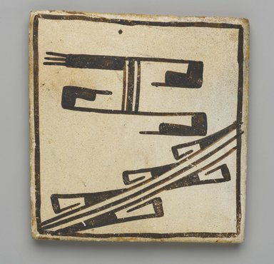 Hopi Pueblo. <em>Tile</em>, late 19th-early 20th century. Clay, slip, 3 5/8 x 3 3/16 in. (9.0 x 8.0 cm). Brooklyn Museum, Brooklyn Museum Collection, X1047.10. Creative Commons-BY (Photo: Brooklyn Museum, X1047.10_PS2.jpg)