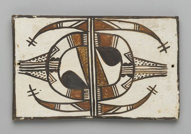 Hopi Pueblo. <em>Tile</em>, late 19th-early 20th century. Clay, slip, 6 1/8 x 3 3/4 in. (15.0 x 9.5 cm). Brooklyn Museum, Brooklyn Museum Collection, X1047.11. Creative Commons-BY (Photo: Brooklyn Museum, X1047.11_PS2.jpg)
