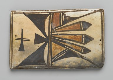 Hopi Pueblo. <em>Tile</em>, late 19th-early 20th century. Clay, slip, 6 x 3 3/4 in. (15.0 x 9.5 cm). Brooklyn Museum, Brooklyn Museum Collection, X1047.13. Creative Commons-BY (Photo: Brooklyn Museum, X1047.13_PS2.jpg)