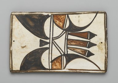 Hopi Pueblo. <em>Tile</em>, late 19th-early 20th century. Clay, slip, 6 x 3 3/4 in. (15.0 x 9.5 cm). Brooklyn Museum, Brooklyn Museum Collection, X1047.14. Creative Commons-BY (Photo: Brooklyn Museum, X1047.14_PS2.jpg)