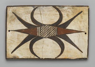 Hopi Pueblo. <em>Tile</em>, late 19th-early 20th century. Clay, slip, 6 1/8 x 4 in. (15.5 x 10.0 cm). Brooklyn Museum, Brooklyn Museum Collection, X1047.2. Creative Commons-BY (Photo: Brooklyn Museum, X1047.2_PS2.jpg)