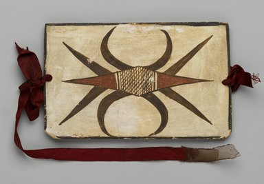Hopi Pueblo. <em>Tile</em>, late 19th-early 20th century. Clay, slip, 6 1/8 x 3 3/4 in. (15.5 x 9.5 cm). Brooklyn Museum, Brooklyn Museum Collection, X1047.3. Creative Commons-BY (Photo: Brooklyn Museum, X1047.3_PS2.jpg)
