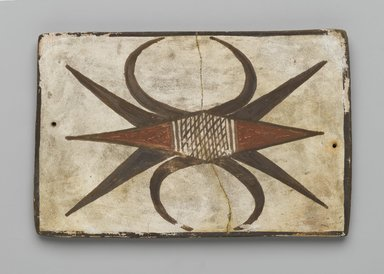 Hopi Pueblo. <em>Tile</em>, late 19th-early 20th century. Clay, slip, 6 x 3 3/4 in. (15.2 x 9.5 cm). Brooklyn Museum, Brooklyn Museum Collection, X1047.4. Creative Commons-BY (Photo: Brooklyn Museum, X1047.4_PS2.jpg)