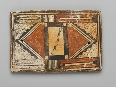 Hopi Pueblo. <em>Tile</em>, late 19th-early 20th century. Clay, slip, 6 x 4 in. (15.2 x 10.2 cm). Brooklyn Museum, Brooklyn Museum Collection, X1047.5. Creative Commons-BY (Photo: Brooklyn Museum, X1047.5_PS2.jpg)