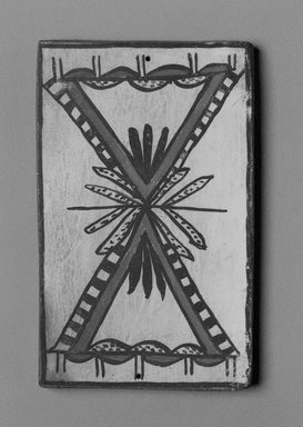 Hopi Pueblo. <em>Tile</em>, late 19th-early 20th century. Clay, slip, 6 x 3 3/4 in. (15.0 x 9.5 cm). Brooklyn Museum, Brooklyn Museum Collection, X1047.6. Creative Commons-BY (Photo: Brooklyn Museum, X1047.6_bw_SL1.jpg)