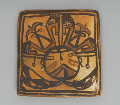 Hopi Pueblo. <em>Tile</em>, late 19th-early 20th century. Clay, slip, 3 3/8 x 3in. (8.5 x 7.6cm). Brooklyn Museum, Brooklyn Museum Collection, X1047.7. Creative Commons-BY (Photo: Brooklyn Museum, X1047.7_PS2.jpg)