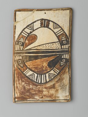 Hopi Pueblo. <em>Tile</em>, late 19th-early 20th century. Clay, slip, 6 x 3 3/4 in. (15.0 x 9.5 cm). Brooklyn Museum, Brooklyn Museum Collection, X1047.8. Creative Commons-BY (Photo: Brooklyn Museum, X1047.8_PS2.jpg)