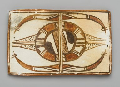Hopi Pueblo. <em>Tile</em>, late 19th-early 20th century. Clay, slip, 6 x 3 5/8 x 3/8 in. (15.2 x 9.2 x 1 cm). Brooklyn Museum, Brooklyn Museum Collection, X1047.9. Creative Commons-BY (Photo: Brooklyn Museum, X1047.9_PS2.jpg)
