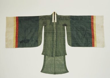 <em>Woman's Ceremonial Robe (Wonsam)</em>, 19th century. Silk gauze, paper, Overall: 46 7/8 x 75 in. (119 x 190.5 cm). Brooklyn Museum, Brooklyn Museum Collection, X1101.1. Creative Commons-BY (Photo: , X1101.1.jpg)