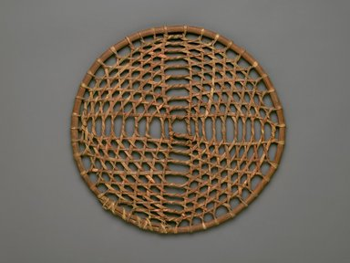 Plains. <em>Game Hoop</em>, 19th-20th century. Wood, rawhide, 13 3/4 x 1/2 x 13 3/4 in. (34.9 x 1.3 x 34.9 cm). Brooklyn Museum, Brooklyn Museum Collection, X1126.31a. Creative Commons-BY (Photo: Brooklyn Museum, X1126.31a_PS2.jpg)