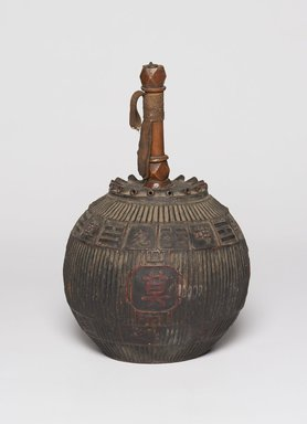 "<em>Lantern with ""The Eight Symbols"" (Palguae) Decorations</em>, 19th century. Wood, bamboo, paper, lacquer, metal, 13 9/16 x 5 1/4 in. (34.5 x 13.3 cm). Brooklyn Museum, Brooklyn Museum Collection, X1133. Creative Commons-BY (Photo: , X1133_PS11.jpg)"