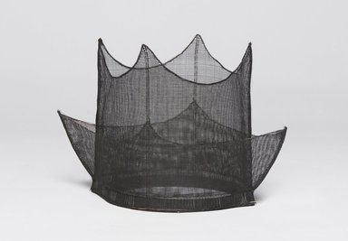 Korean. <em>Hat (Jeongjagwan)</em>, 19th century. Horsehair, 6 11/16 x 12 5/8 x 9 13/16 in. (17 x 32 x 25 cm). Brooklyn Museum, Brooklyn Museum Collection, X1142. Creative Commons-BY (Photo: , X1142_PS11.jpg)