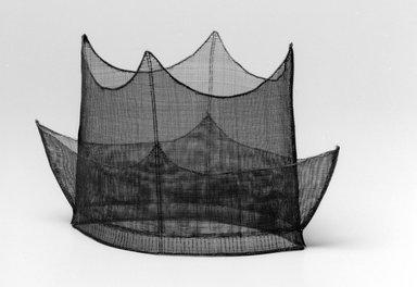 Korean. <em>Hat (Jeongjagwan)</em>, 19th century. Horsehair, 6 11/16 x 12 5/8 x 9 13/16 in. (17 x 32 x 25 cm). Brooklyn Museum, Brooklyn Museum Collection, X1142. Creative Commons-BY (Photo: Brooklyn Museum, X1142_bw.jpg)