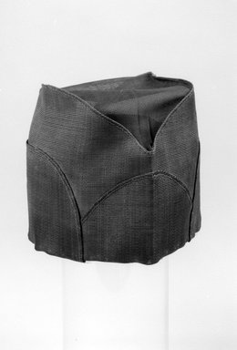 Korean. <em>Hat</em>, ca. 1920. Horsehair, gauze, paper, 10 5/8 x 5 13/16 in. (27 x 14.7 cm). Brooklyn Museum, Brooklyn Museum Collection, X1143. Creative Commons-BY (Photo: Brooklyn Museum, X1143_bw.jpg)