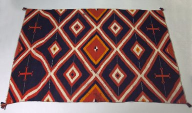 Navajo. <em>Wearing Blanket</em>, ca. 1880-1895. Wool, natural plant dye, synthetic dye, 53 x 78 in. (134.6 x 198.1 cm). Brooklyn Museum, Brooklyn Museum Collection, X1178. Creative Commons-BY (Photo: Brooklyn Museum, X1178_PS5.jpg)