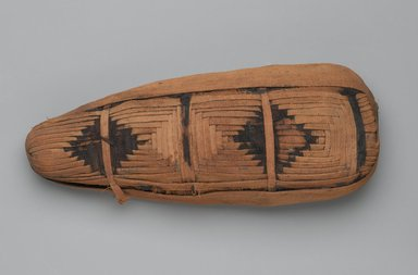 <em>Ibis Mummy</em>, 30 B.C.E.-395 C.E. Animal remains, linen, 4 1/4 × 2 3/4 × 12 in. (10.8 × 7 × 30.5 cm). Brooklyn Museum, Brooklyn Museum Collection, X1179.1. Creative Commons-BY (Photo: Brooklyn Museum, X1179.1_top_PS2.jpg)