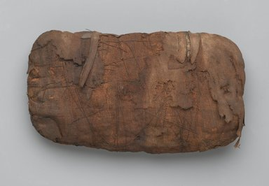 <em>Shrew Mummy Bundle</em>, 664-30 B.C.E. Animal remains (Crocidura flavescens, C. nana, C. olivieri, or C. religiosa), linen, 2 15/16 x 8 1/4 x 4 3/4 in., 1 lb. (7.5 x 21 x 12.1 cm, 0.45kg). Brooklyn Museum, Brooklyn Museum Collection, X1179.2. Creative Commons-BY (Photo: Brooklyn Museum, X1179.2_PS2.jpg)