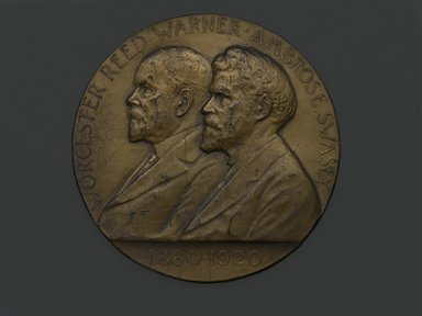 Victor David Brenner (American, 1871-1924). <em>Worcester and Swasey Company Medal</em>, 1920. Bronze, 3 x 3 x 3/16 in. (7.6 x 7.6 x 0.5 cm). Brooklyn Museum, Brooklyn Museum Collection, X1180.3. Creative Commons-BY (Photo: Brooklyn Museum, X1180.3_front_PS2.jpg)