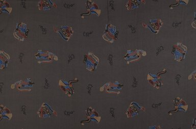 Possibly Hazel Burnham Slaughter (American, 1888-1979). <em>Textile Fragment</em>, early 20th century. Printed silk, 38 1/2 x 39 1/2 in. (97.8 x 100.3 cm). Brooklyn Museum, Brooklyn Museum Collection, X1200.2 (Photo: Brooklyn Museum, X1200.2_PS6.jpg)