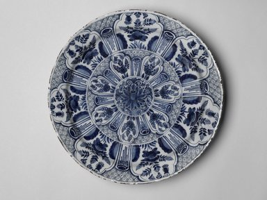 Cornelis de Keizer. <em>Charger</em>, ca. 1668. Glazed earthenware, Diameter: 14 1/4 in. (36.2 cm). Brooklyn Museum, Brooklyn Museum Collection, X238. Creative Commons-BY (Photo: Brooklyn Museum, X238_PS2.jpg)