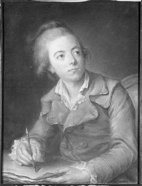 French. <em>Portrait of a Gentleman</em>, 18th century. Pastel on paper, 27 1/2 x 21 in.  (69.9 x 53.3 cm). Brooklyn Museum, Brooklyn Museum Collection, X572 (Photo: Brooklyn Museum, X572_bw.jpg)