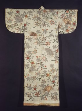 <em>Noh Robe</em>, 18th century. Embroidered rinzu, 61 1/4 x 48 in.  (155.6 x 121.9 cm). Brooklyn Museum, Brooklyn Museum Collection, X640.1. Creative Commons-BY (Photo: Brooklyn Museum, X640_transp4580.jpg)