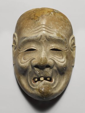 <em>Theatrical Mask ( Beggar)</em>, 1600-1867. Wood with lacquer, 8 3/8 x 5 7/8 in.  (21.3 x 14.9 cm). Brooklyn Museum, Brooklyn Museum Collection, X643.1. Creative Commons-BY (Photo: Brooklyn Museum, X643.1_PS4.jpg)