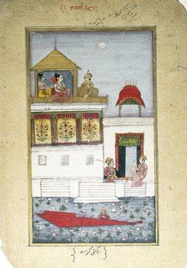 Indian. <em>Kedara Ragini, Page from a Dispersed Ragamala Series</em>, ca. 1800. Opaque watercolor on paper, sheet: 12 x 8 1/4 in.  (30.5 x 21.0 cm). Brooklyn Museum, Brooklyn Museum Collection, X689.8 (Photo: Brooklyn Museum, X689.8_IMLS_SL2.jpg)