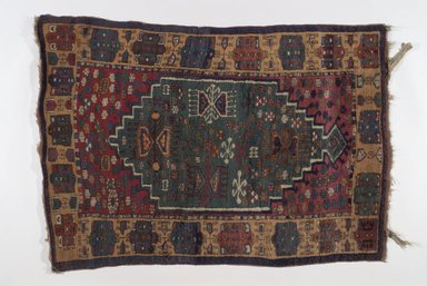 <em>Kuba Rug</em>, 20th century. Wool, Old Dims: 51 x 37 in. (129.5 x 94 cm). Brooklyn Museum, Brooklyn Museum Collection, X736.3. Creative Commons-BY (Photo: Brooklyn Museum, X736.3.jpg)