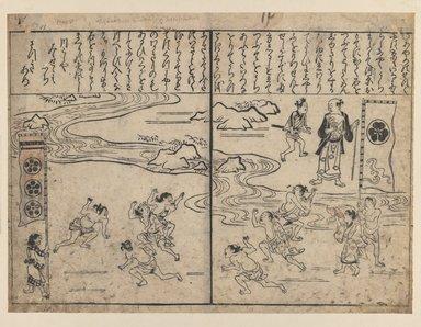 Hishikawa Moronobu (Japanese, 1618-1694). <em>Ayame no Sikku</em>, 2nd half of 17th century. Woodblock print on paper, 8 7/8 x 12 7/8 in. (22.5 x 32.7 cm). Brooklyn Museum, Brooklyn Museum Collection, X749.2 (Photo: Brooklyn Museum, X749.2_IMLS_PS3.jpg)