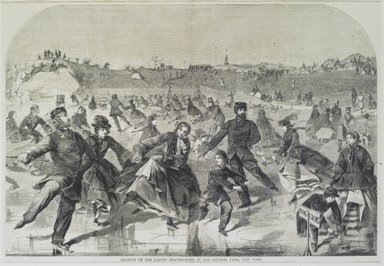 Winslow Homer (American, 1836-1910). <em>Skating on the Ladies' Skating Pond in the Central Park, New York</em>. Wood engraving Brooklyn Museum, Brooklyn Museum Collection, X757.1 (Photo: Brooklyn Museum, X757.1.jpg)