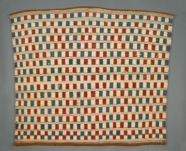 Coast Salish. <em>Blanket</em>, late 19th or early 20th century. Dyed wool yarn, cloth, 48 × 57 in. (121.9 × 144.8 cm). Brooklyn Museum, Brooklyn Museum Collection, X763. Creative Commons-BY (Photo: Brooklyn Museum, X763_PS1.jpg)