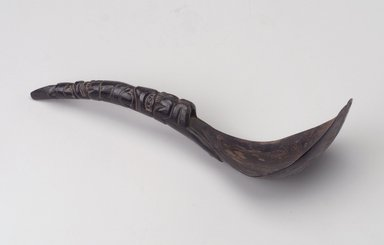 Eskimo. <em>Spoon</em>, 1868-1933. Mountain goat horn, 9 1/2in. (24.2cm). Brooklyn Museum, Brooklyn Museum Collection, X844.19. Creative Commons-BY (Photo: Brooklyn Museum, X844.19.jpg)