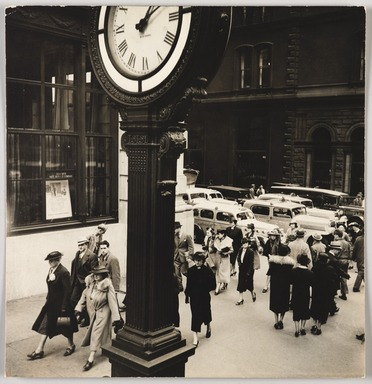 Berenice Abbott (American, 1898-1991). <em>Tempo of the City I</em>, May 13, 1938. Gelatin silver photograph, 7 9/16 x 7 5/16 in. (19.2 x 18.6 cm). Brooklyn Museum, Brooklyn Museum Collection, X858.28 (Photo: , X858.28_PS9.jpg)