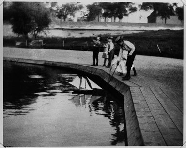 George Bradford Brainerd (American, 1845-1887). <em>Sailing Boats, Central Park, Manhattan</em>, 1885. Gelatin silver photograph, 7 15/16 x 9 13/16 in. (20.1 x 25 cm). Brooklyn Museum, Brooklyn Museum Collection, X892.9 (Photo: Brooklyn Museum, X892.9_bw.jpg)