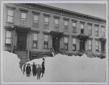 Breading G. Way (American, 1860-1940). <em>Blizzard of March 1888, Brooklyn</em>, 1888. Gelatin silver photograph, Sheet: 11 x 14 in. (27.9 x 35.6 cm). Brooklyn Museum, Brooklyn Museum Collection, X894.114 (Photo: Brooklyn Museum, X894.114_PS4.jpg)