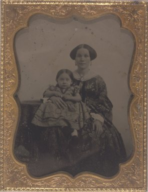 Unknown. <em>Young Woman and Child</em>. Ambrotype Brooklyn Museum, Brooklyn Museum Collection, X894.3 (Photo: Brooklyn Museum, X894.3.jpg)