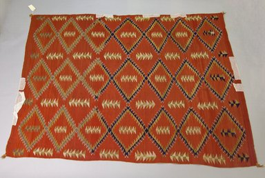 Navajo. <em>Blanket</em>, 1868-1932. Wool, dye, 74 1/2 x 52 1/2 in. Brooklyn Museum, Brooklyn Museum Collection, X911.1. Creative Commons-BY (Photo: Brooklyn Museum, X911.1_PS5.jpg)