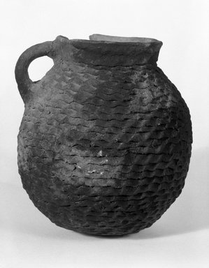 Ancient Pueblo (Anasazi). <em>Pitcher</em>, 900-1300 C.E. Clay, 5 1/2 x 5 in. (14 x 12.7 cm). Brooklyn Museum, Brooklyn Museum Collection, X949.8. Creative Commons-BY (Photo: Brooklyn Museum, X949.8_bw.jpg)