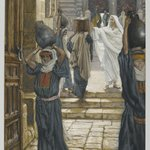 Jesus Forbids the Carrying of Loads in the Forecourt of the Temple (Jésus empêche de porter les fardeaux dans le parvis du Temple)