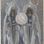 Angels Holding a Dial Indicating the Different Hours of the Acts of the Passion (Anges tenant un cadran indiquant les différentes heures des actes de la passion)