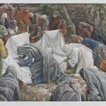 The Holy Virgin Kisses the Face of Jesus Before He is Enshrouded on the Anointing Stone (La Sainte Vierge baise la face de Jésus avant quil ne soit enveloppé par les suaires sur la pierre de lonction)