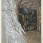 Mary Magdalene Questions the Angels in the Tomb (Madeleine dans le tombeau interroge les anges)