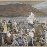 Jesus Teaches the People by the Sea (Jésus enseigne le peuple près de la mer)